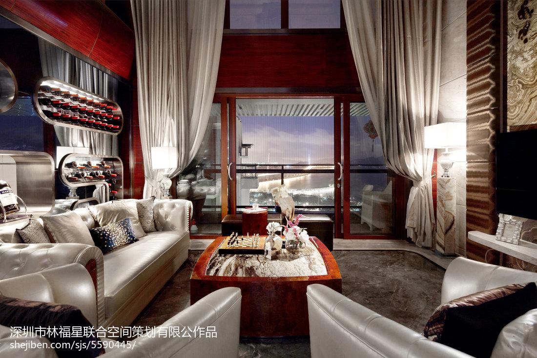 最火面积144平别墅客厅现代装饰图片