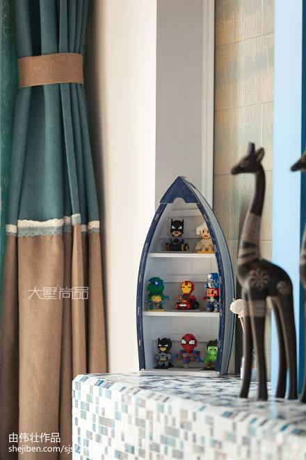 热门101平米三居客厅地中海实景图片大全