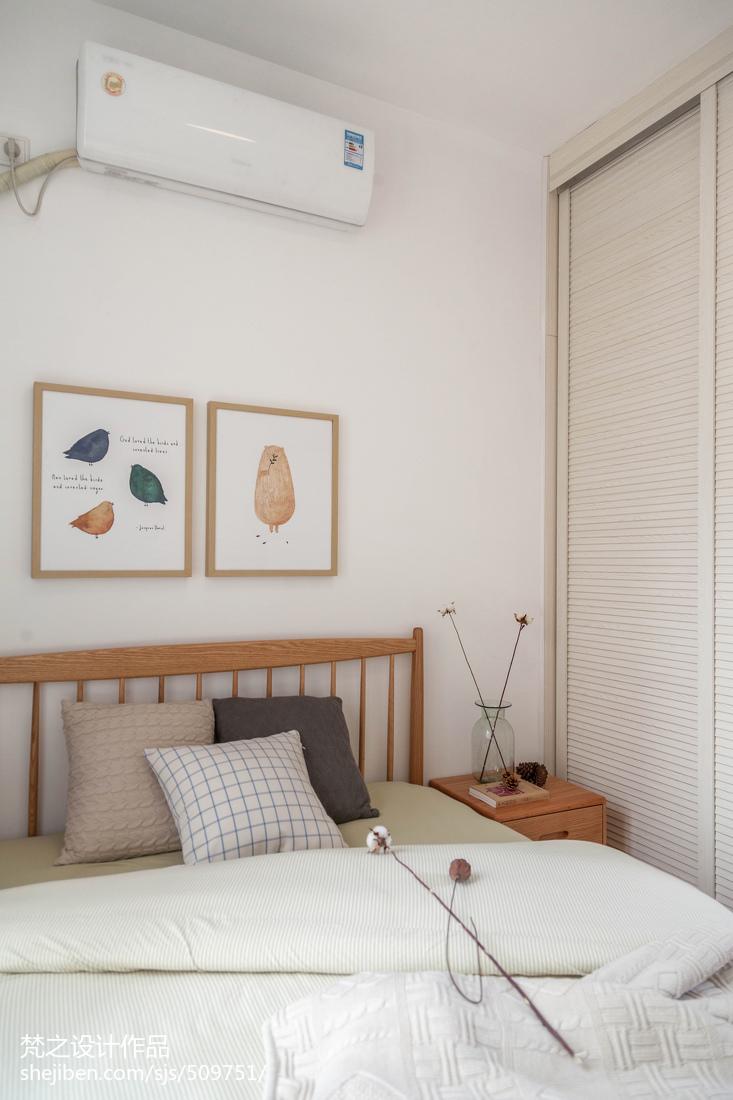 2018精选大小105平混搭三居卧室装饰图片欣赏卧室