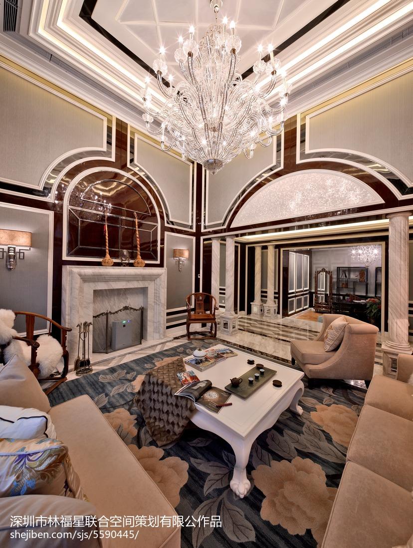 平米混搭别墅客厅装修设计效果图片大全客厅