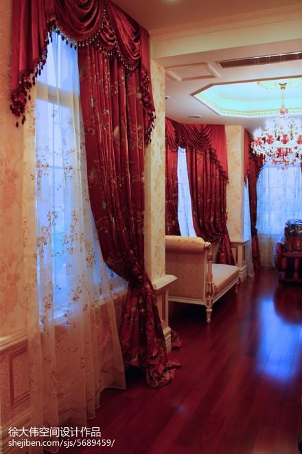 2018精选121平方欧式别墅卧室装修效果图片大全卧室2图