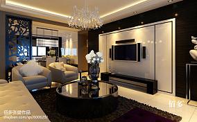 美式家装设计室内三室两厅效果图