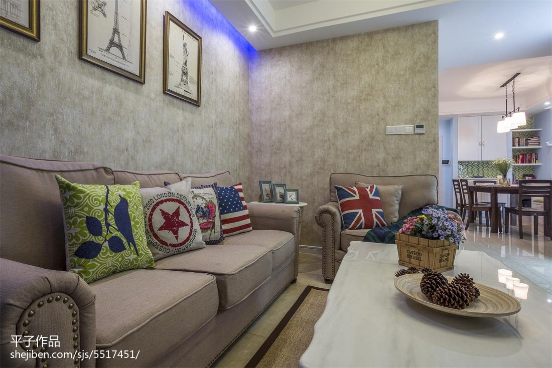 热门85平方二居客厅混搭效果图片欣赏客厅