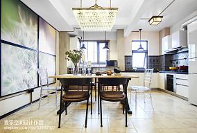 2018134平米四居餐厅混搭装修效果图片