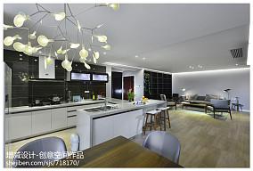 2019141平现代四居厨房装修装饰图