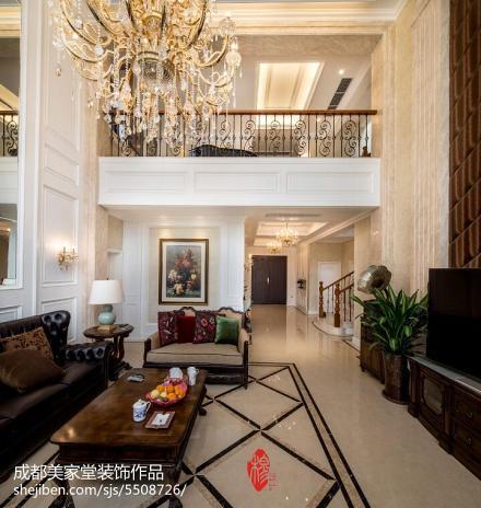 精美111平米新古典别墅客厅装修图片欣赏