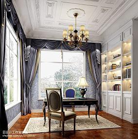 2018精选面积144平欧式四居书房装饰图片大全