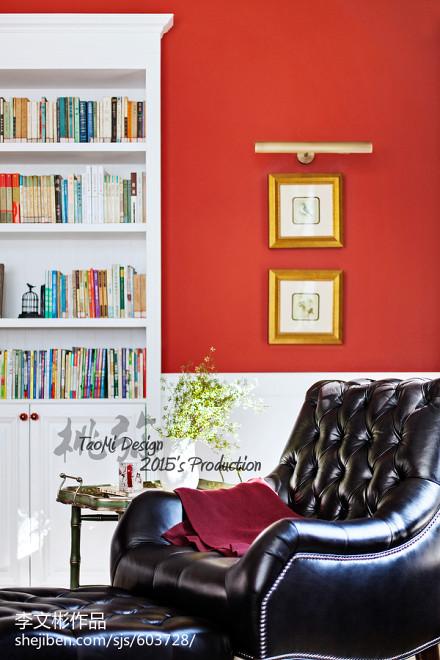 精美134平米美式别墅客厅效果图片大全客厅