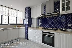 面积93平美式三居厨房装饰图片大全