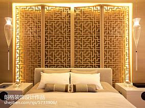 精选面积128平别墅卧室中式装修效果图卧室1图中式现代设计图片赏析
