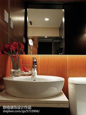 2018面积135平别墅卫生间中式装修图片欣赏卫生间中式现代设计图片赏析