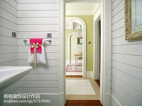 精选面积144平别墅卫生间田园装饰图卫生间美式田园设计图片赏析