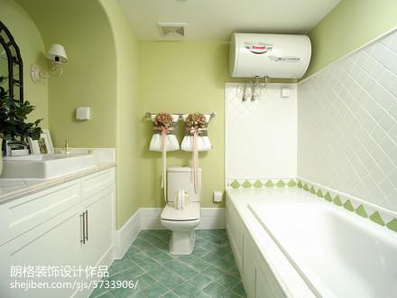 热门别墅卫生间田园装修效果图片欣赏卫生间1图