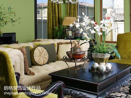 精选113平米田园别墅客厅装修效果图片客厅3图
