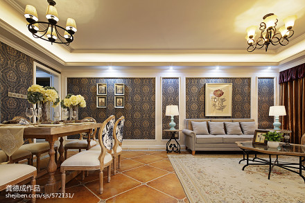 明亮274平田园样板间客厅实景图片客厅