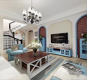 热门面积91平地中海三居客厅装修图片大全
