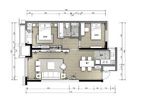 温馨270平中式样板间客厅布置图样板间中式现代家装装修案例效果图
