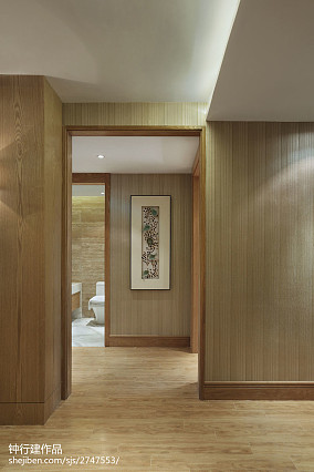 精选中式过道装修实景图片欣赏样板间中式现代家装装修案例效果图