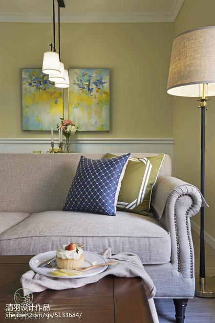 精美95平客厅三居混搭装修实景图