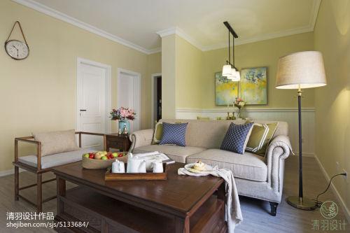 三居室混搭风格客厅隔断设计功能区沙发2图