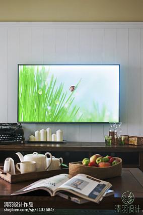 精美混搭3室效果图片大全99平81-100m²三居家装装修案例效果图