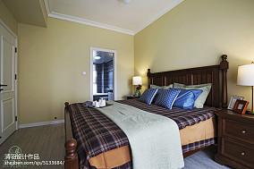 2018面积103平混搭三居卧室装饰图81-100m²三居潮流混搭家装装修案例效果图
