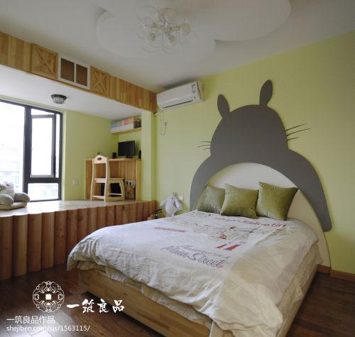 热门面积101平现代三居儿童房装修设计效果图卧室床81-100m²三居现代简约家装装修案例效果图