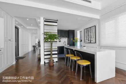 浪漫80平混搭三居餐厅装修装饰图厨房