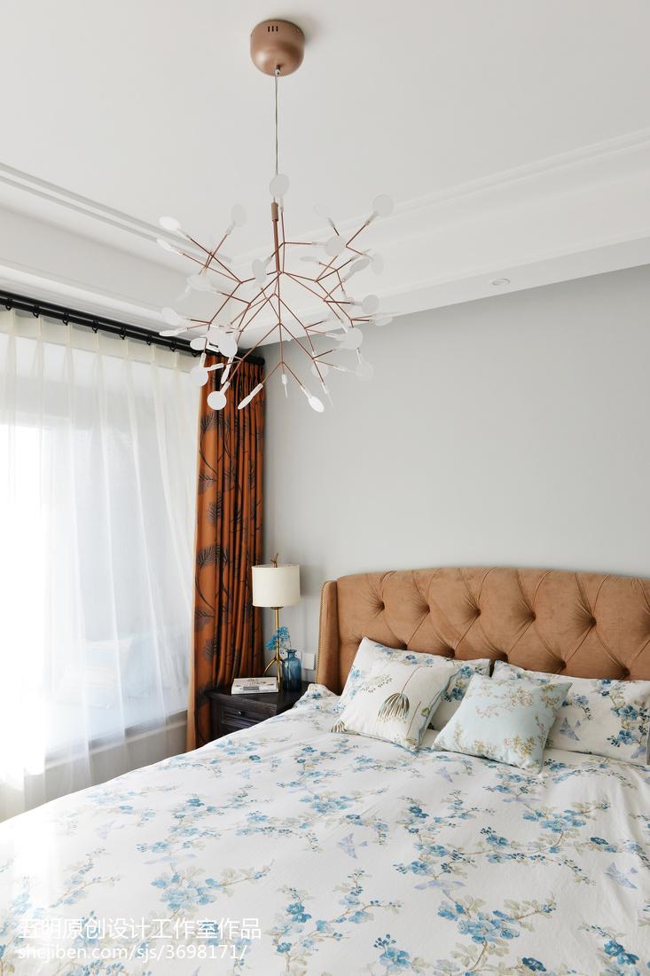 精选96平米三居卧室混搭装修实景图片卧室