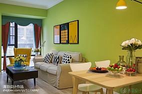 热门105平大小客厅三居混搭装修实景图客厅1图潮流混搭设计图片赏析