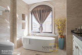 面积100平美式三居卫生间装修欣赏图片
