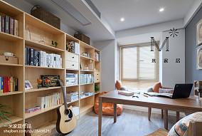 精美面积91平中式三居书房装饰图片三居中式现代家装装修案例效果图