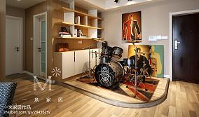 热门面积103平现代三居休闲区装修实景图片欣赏