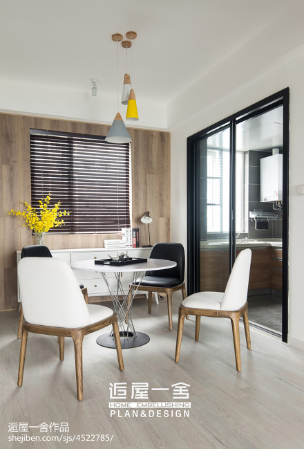 明亮123平欧式三居餐厅设计效果图