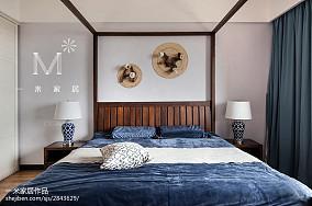 平方四居卧室中式装修欣赏图片四居及以上中式现代家装装修案例效果图