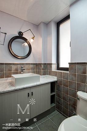 2018精选面积123平中式四居卫生间装修效果图片大全四居及以上中式现代家装装修案例效果图
