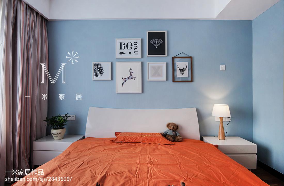 平米四居儿童房中式装饰图卧室中式现代卧室设计图片赏析