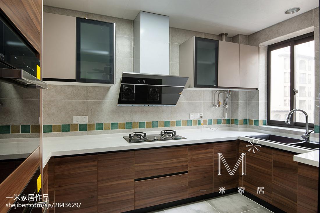 精选四居厨房中式效果图片欣赏餐厅中式现代厨房设计图片赏析