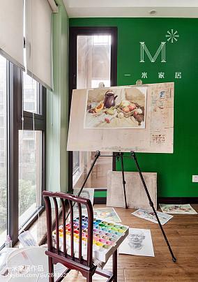 2018精选112平米四居书房中式装修实景图片四居及以上中式现代家装装修案例效果图