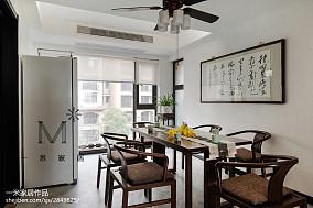 2018中式四居餐厅装修效果图片大全四居及以上中式现代家装装修案例效果图