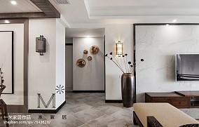 2018精选119平米四居过道中式装修欣赏图片大全四居及以上中式现代家装装修案例效果图