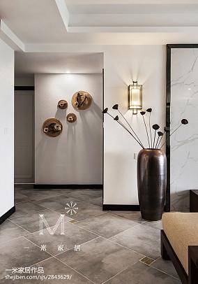 平米四居过道中式效果图片四居及以上中式现代家装装修案例效果图