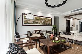 热门四居客厅中式装修效果图片