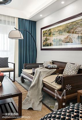 精美面积114平中式四居客厅实景图片欣赏四居及以上中式现代家装装修案例效果图