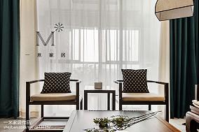热门128平米四居客厅中式欣赏图片四居及以上中式现代家装装修案例效果图
