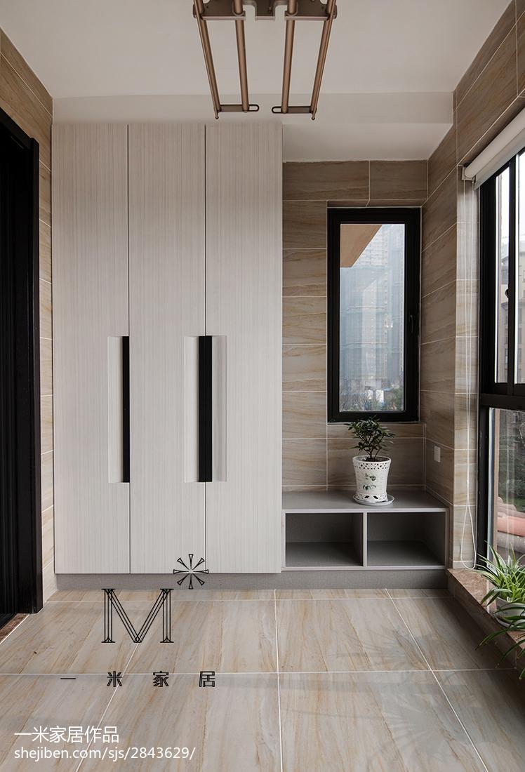 精选面积113平中式四居阳台装饰图片欣赏阳台中式现代阳台设计图片赏析