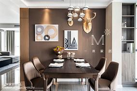 138m²现代简约餐厅背景墙效果图