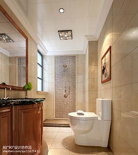 热门120平米四居卫生间美式实景图片