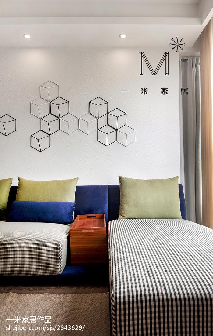 热门108平米三居客厅现代装修设计效果图片欣赏客厅床现代简约客厅设计图片赏析