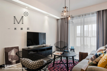 温馨90平现代三居装修美图三居现代简约家装装修案例效果图